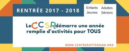 On démarre 2017 – 2018 au CCSR