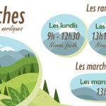 Les randonnées et marches nordiques : les dates