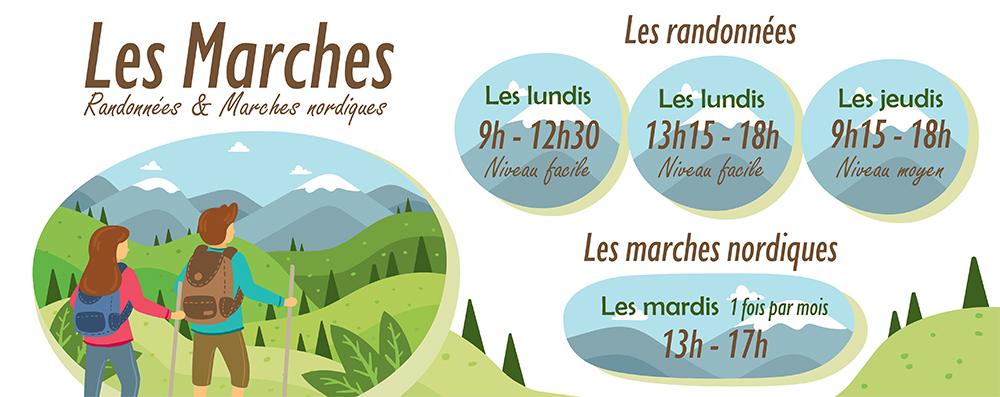 Les dates des randonnées et marches nordiques (2ème trim.)
