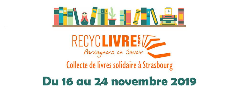 RecycLivre : Collecte de livres solidaire à Strasbourg