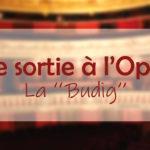 Une sortie à l'Opéra : La Budig
