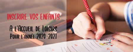 Inscrire vos enfants : année 2020-2021