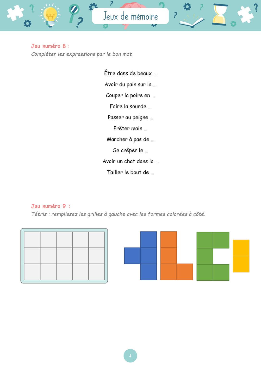 Jeux de mémoire - Mardi 23 mars 2021 - Page 4