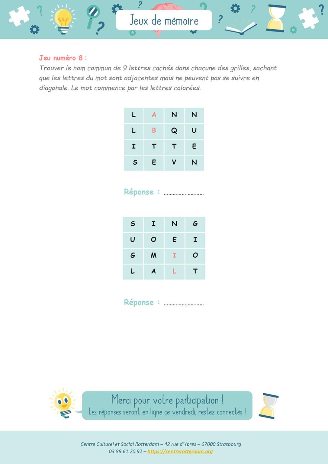 Jeux de mémoire - Mardi 30 mars 2021 - Page 5