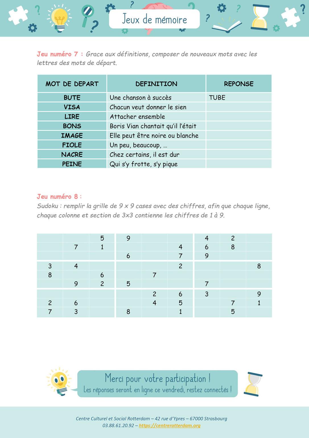 Jeux de mémoire - Mardi 9 mars 2021 - Page 5