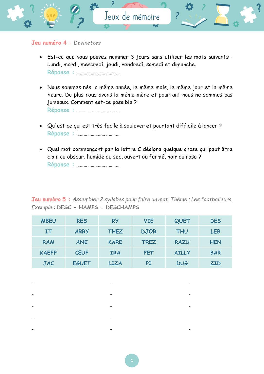 Jeux de mémoire - Mardi 11 mai 2021 - Page 3