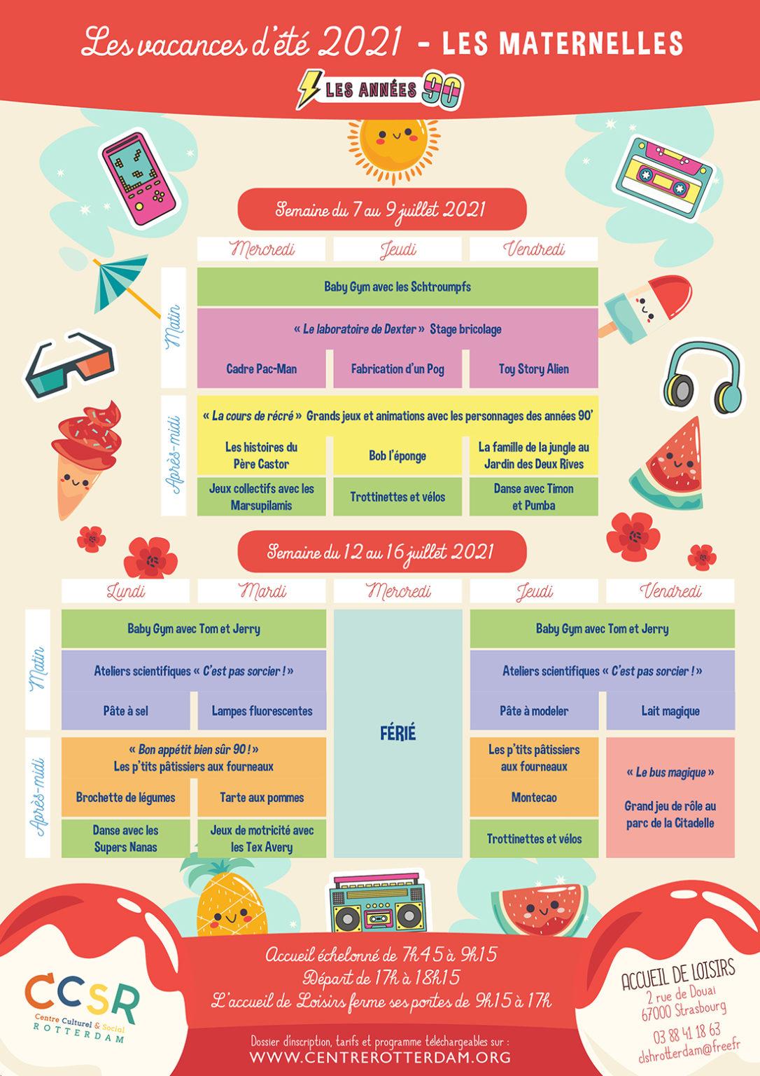 Programme vacances été 2021 - Maternelles - 1
