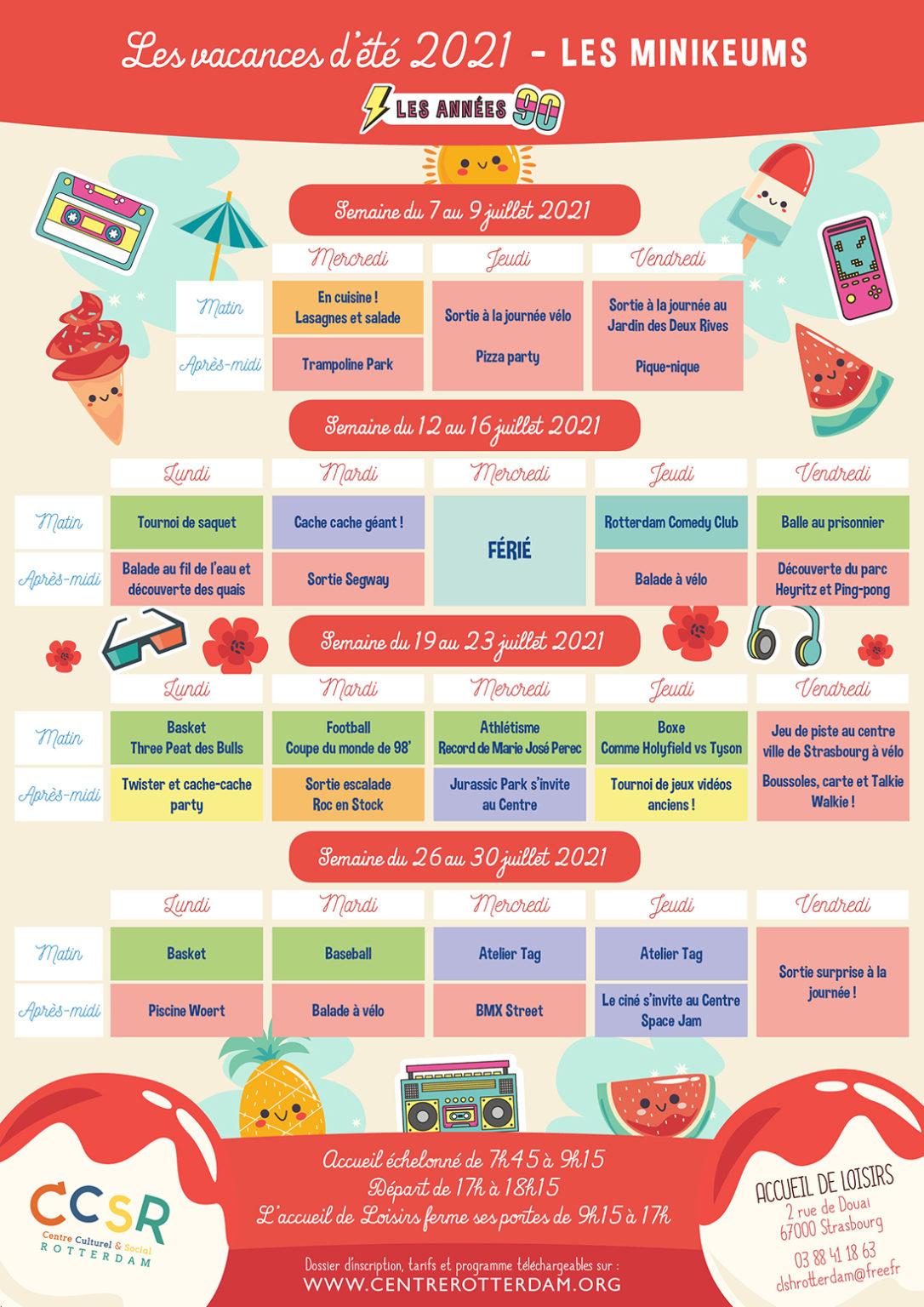 Programme vacances été 2021 - Minikeums