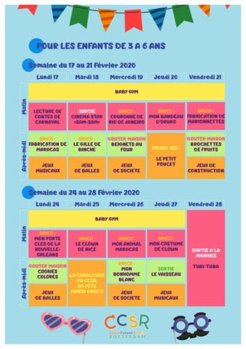 Programme des vacances de février : Les enfants de 3 à 6 ans