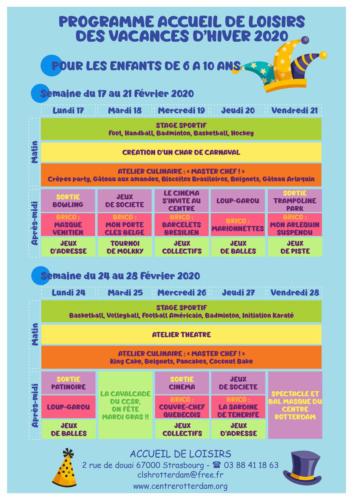 Programme des vacances de février : Les enfants de 6 à 10 ans