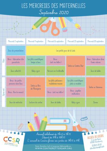 Les mercredis de septembre : le programme des maternelles