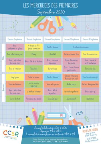 Les mercredis de septembre : le programme des primaires